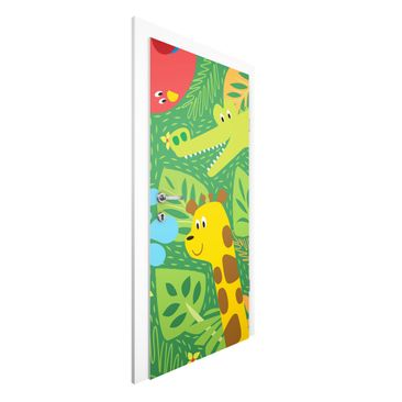 Immagine del prodotto Carta da parati per porte - No.BP4 Zoo Animals - 215cm x 96cm
