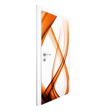 Immagine del prodotto Carta da parati per porte - Orange panel - door wallpaper