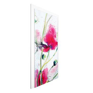 Produktfoto Vliestapete Tür - Painted Poppies - Türtapete