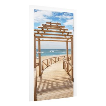 Immagine del prodotto Carta da parati per porte - Beach Path to the Sea in Andalusia - 215cm x 96cm
