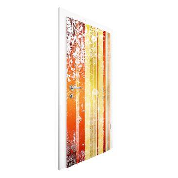 Produktfoto Tür Streifentapete - Streaky I - Vlies Tür Streifentapete selbstklebend -