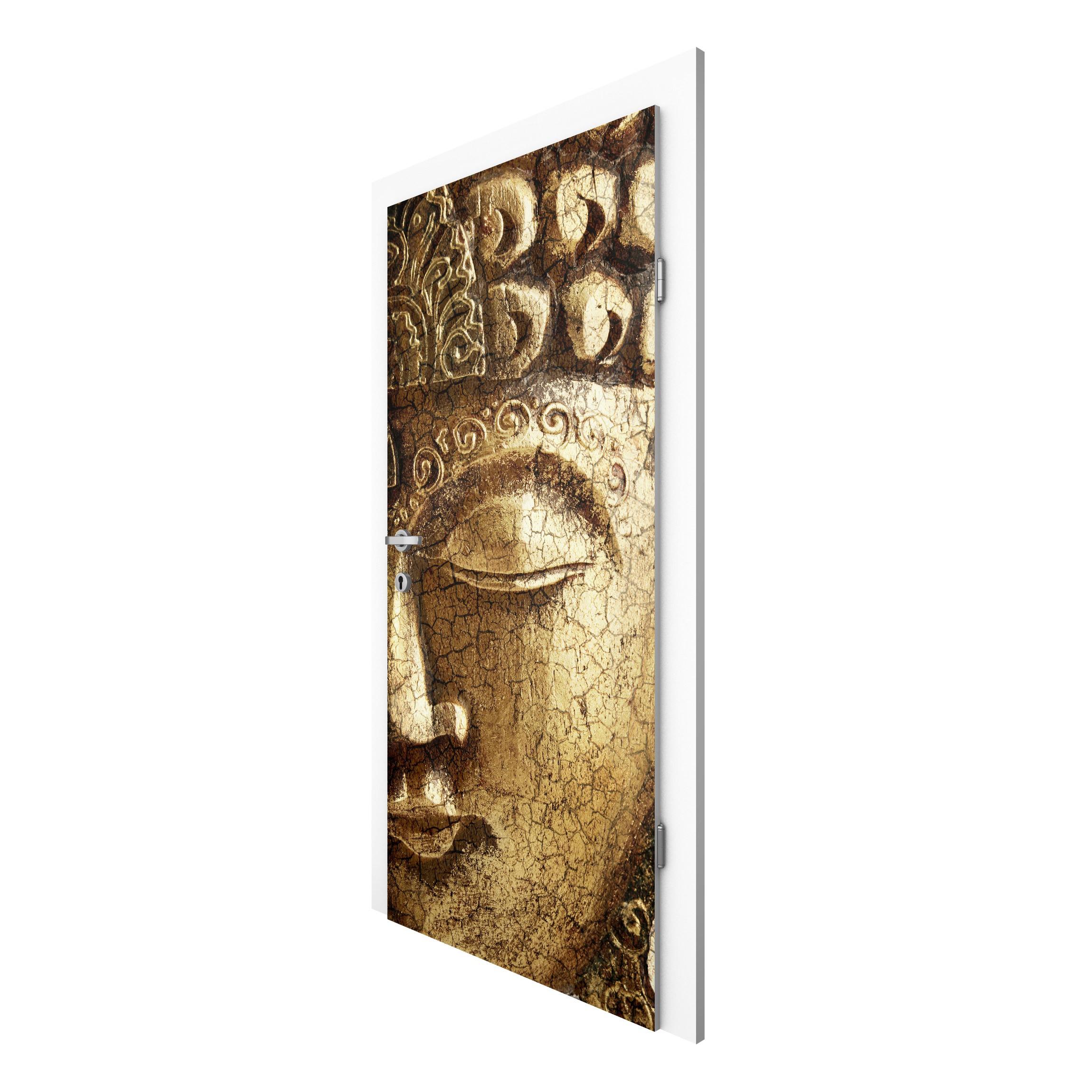 t rtapete buddha vintage buddha vliestapete f r die t r. Black Bedroom Furniture Sets. Home Design Ideas