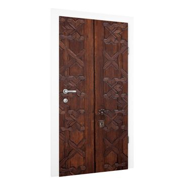 Immagine del prodotto Carta da parati per porte Premium - Old decorated wooden door in the Alhambra Palace - 215cm x 96cm