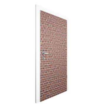 Immagine del prodotto Carta da parati per porte Premium - Brick tile wallpaper red - 215cm x 96cm