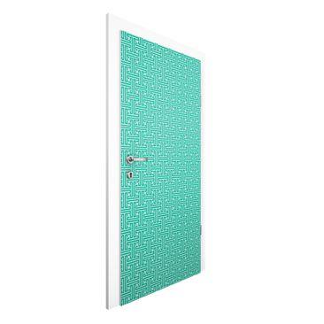 Produktfoto Vliestapete Tür Premium - Dekoratives Labyrinth - Türtapete
