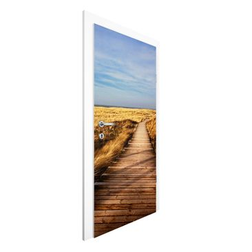 Immagine del prodotto Carta da parati per porte Premium - Pathway Through The Dunes At Sylt - 215cm x 96cm