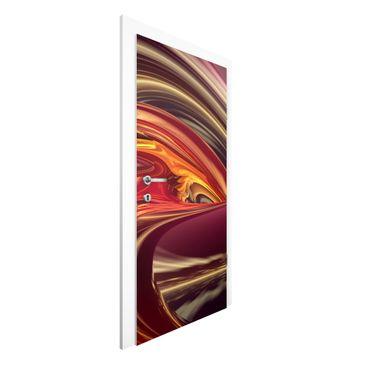 Produktfoto Vliestapete Tür Premium - Fantastic Burning - Türtapete