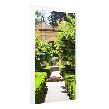Immagine del prodotto Carta da parati per porte Premium - Garden Path in Alhambra - 215cm x 96cm