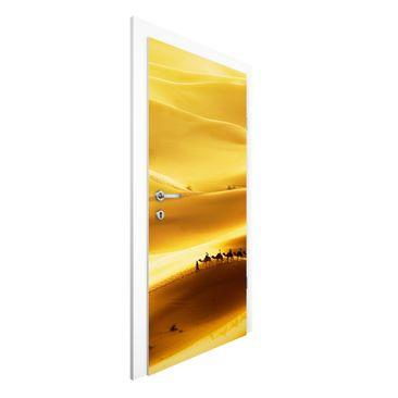 Produktfoto Vliestapete Tür Premium - Golden Dunes - Türtapete