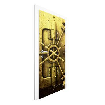 Produktfoto Vliestapete Tür Premium - Golden Safe - Türtapete