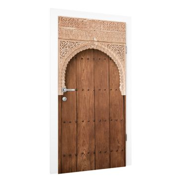 Immagine del prodotto Carta da parati per porte Premium - Wooden Gate from the Alhambra palace - 215cm x 96cm