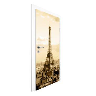 Produktfoto Vliestapete Tür Premium - I Love Paris - Türtapete