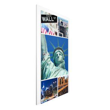 Produktfoto Vliestapete Tür Premium - Impressive New York - Türtapete
