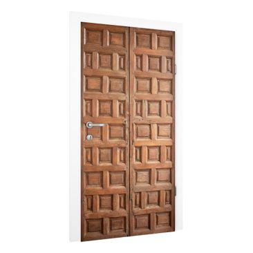 Produktfoto Vliestapete Tür Premium - Mediterrane Holztür aus Granada - Türtapete