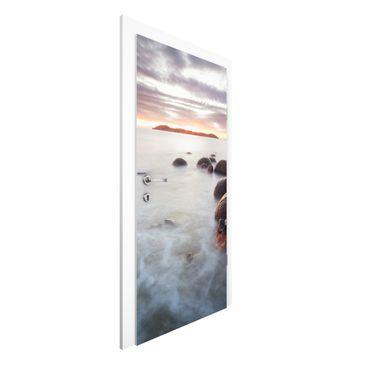 Produktfoto Vliestapete Tür Premium - Moeraki Neuseeland - Türtapete