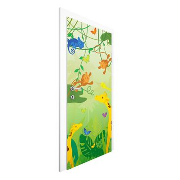 Immagine del prodotto Carta da parati per porte Premium - No.IS87 Jungle game - 215cm x 96cm