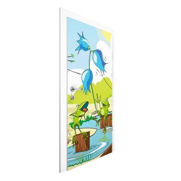 Immagine del prodotto Carta da parati per porte Premium - No.NL1 Animal Concert - 215cm x 96cm