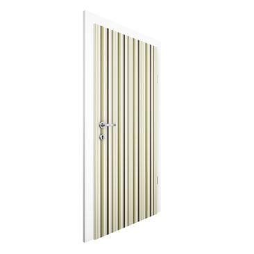 Immagine del prodotto Carta da parati per porte Premium - No.TA103 Stripe pattern greens - 215cm x 96cm