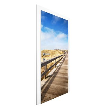 Immagine del prodotto Carta da parati per porte Premium - North Sea Walk - 215cm x 96cm