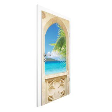 Produktfoto Vliestapete Tür Premium - Ocean View - Türtapete