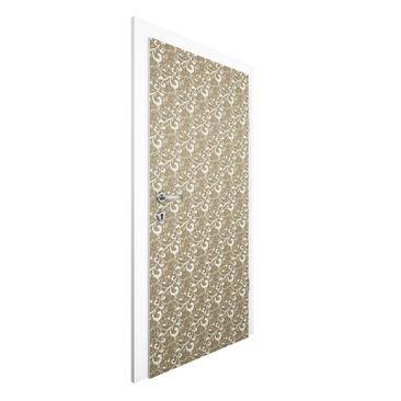 Produktfoto Vliestapete Tür Premium - Ornamentstruktur - Türtapete