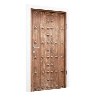 Produktfoto Vliestapete Tür Premium - Rustikale spanische Holztür - Türtapete