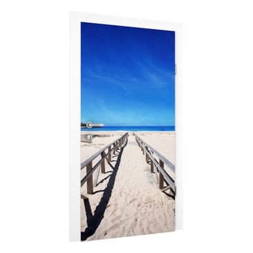 Immagine del prodotto Carta da parati per porte Premium - Coastal the Mediterranean in Spain - 215cm x 96cm