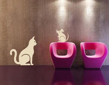 Product picture Wall Decal no.SF110 cat & mouse