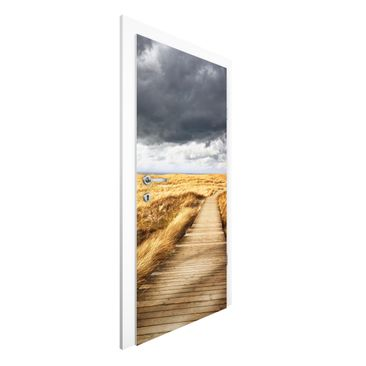 Immagine del prodotto Carta da parati per porte Premium - Pathway Through The Dunes - 215cm x 96cm