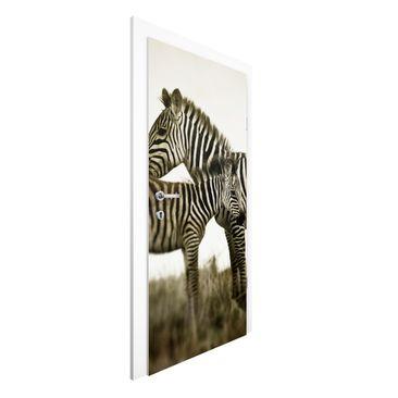 Immagine del prodotto Carta da parati per porte Premium - Zebra couple - 215cm x 96cm