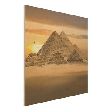 Produktfoto Bild aus Holz - Dream of Egypt - Quadrat 1:1