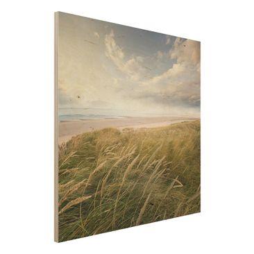Produktfoto Holzbild Meer - Dünentraum - Quadrat 1:1