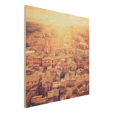 Immagine del prodotto Stampa su legno - Fiery Siena - Quadrato 1:1