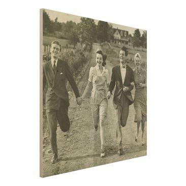 Immagine del prodotto Stampa su legno - Holding Hands - Quadrato 1:1