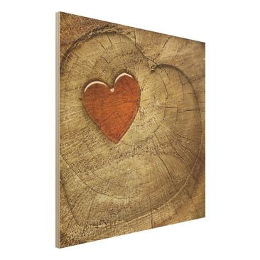 Produktfoto Holz-Bild - Natural Love - Quadrat 1:1