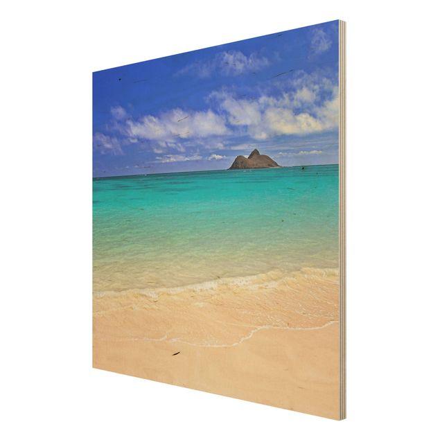Produktfoto Holzbild Meer - Paradise Beach - Quadrat 1:1