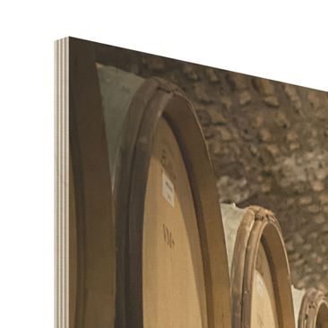 Product picture Wood Print - Wine cellars - Square 1:1