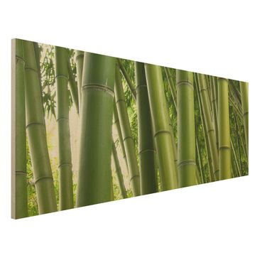 Product picture Wood Print - Bamboo Trees No.1 -...