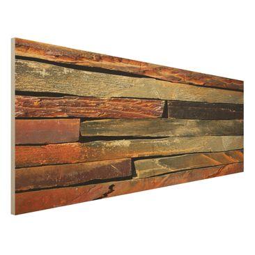Produktfoto Holzbild - Bretterstapel - Panorama Quer