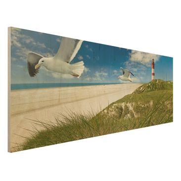 Produktfoto Holzbild Meer - Dune Breeze - Panorama Quer
