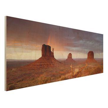 Immagine del prodotto Stampa su legno - Monument Valley at sunset - Panoramico
