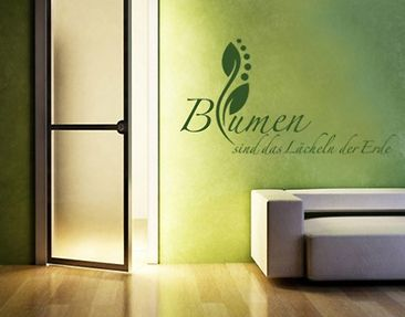 Produktfoto Wall Decal no.SF122 Blumen sind...