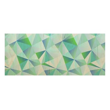 Product picture Wood Print - Vector pattern turquoise -...