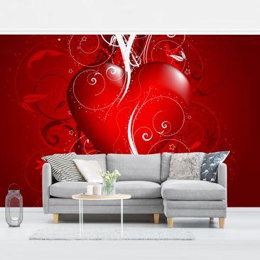 Produktfoto Vliestapete - Floral Heart - Fototapete Breit