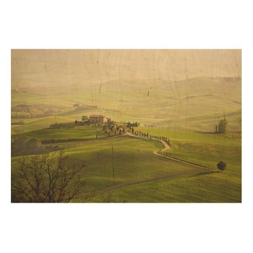 Product picture Wood Print - Chianti Tuscany - Wide 2:3