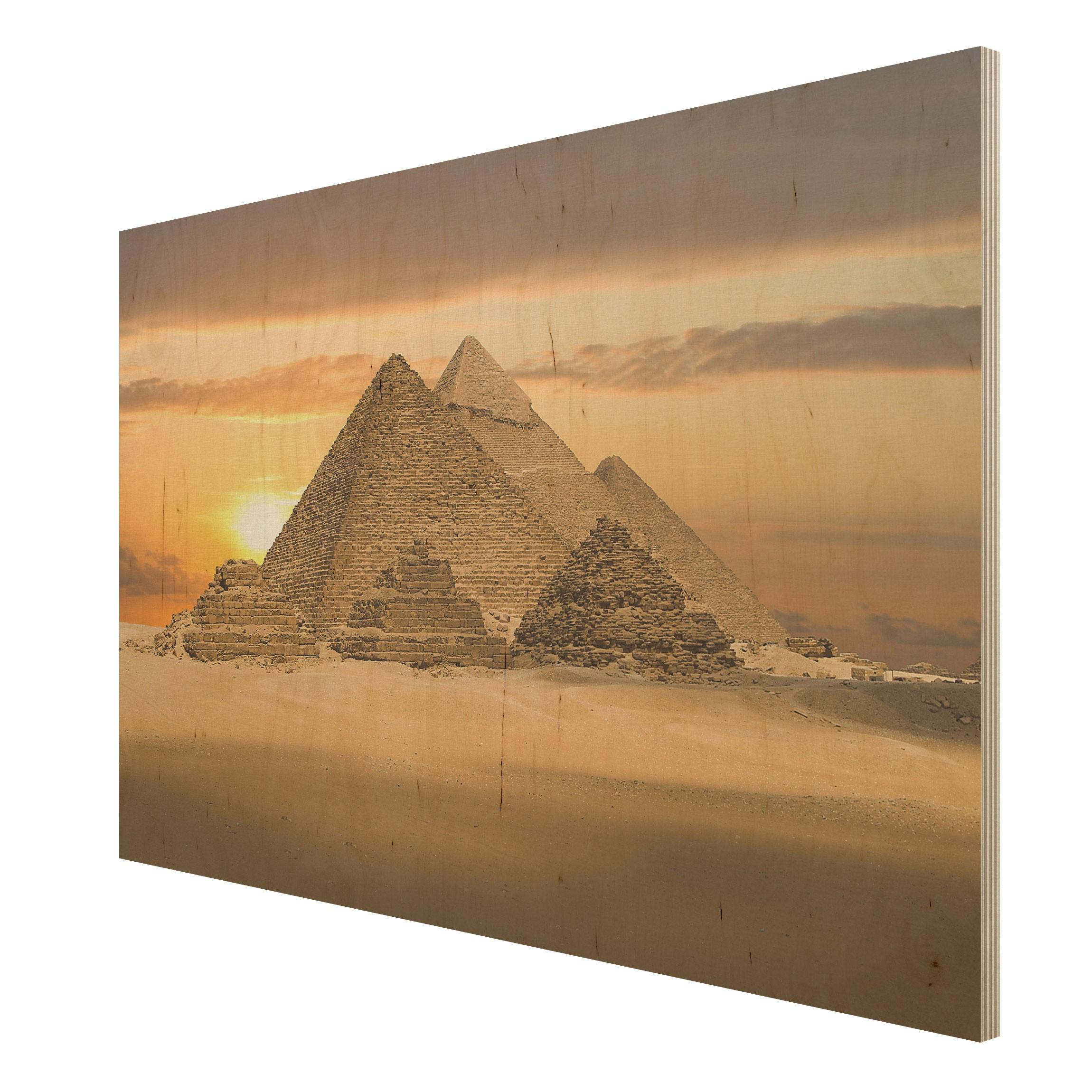 bild aus holz dream of egypt quer 2 3. Black Bedroom Furniture Sets. Home Design Ideas