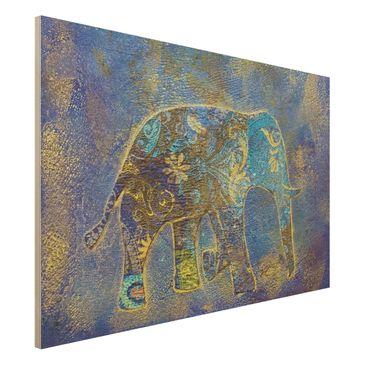 Produktfoto Holzbild - Elephant in Marrakech - Quer 2:3