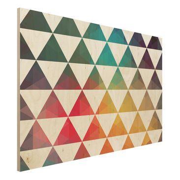 Produktfoto Holzbild - Farbgeometrie - Quer 2:3
