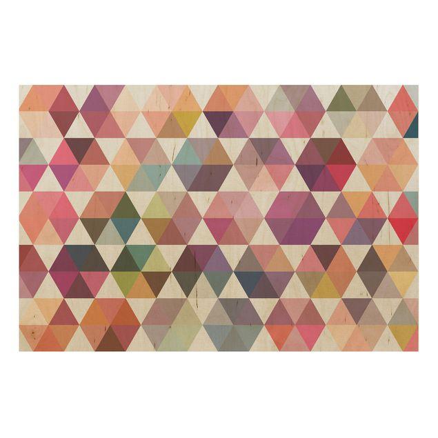 Produktfoto Wandbild Holz - Hexagon Facetten - Quer 2:3