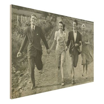 Product picture Wood Print - Holding Hands - Wide 2:3